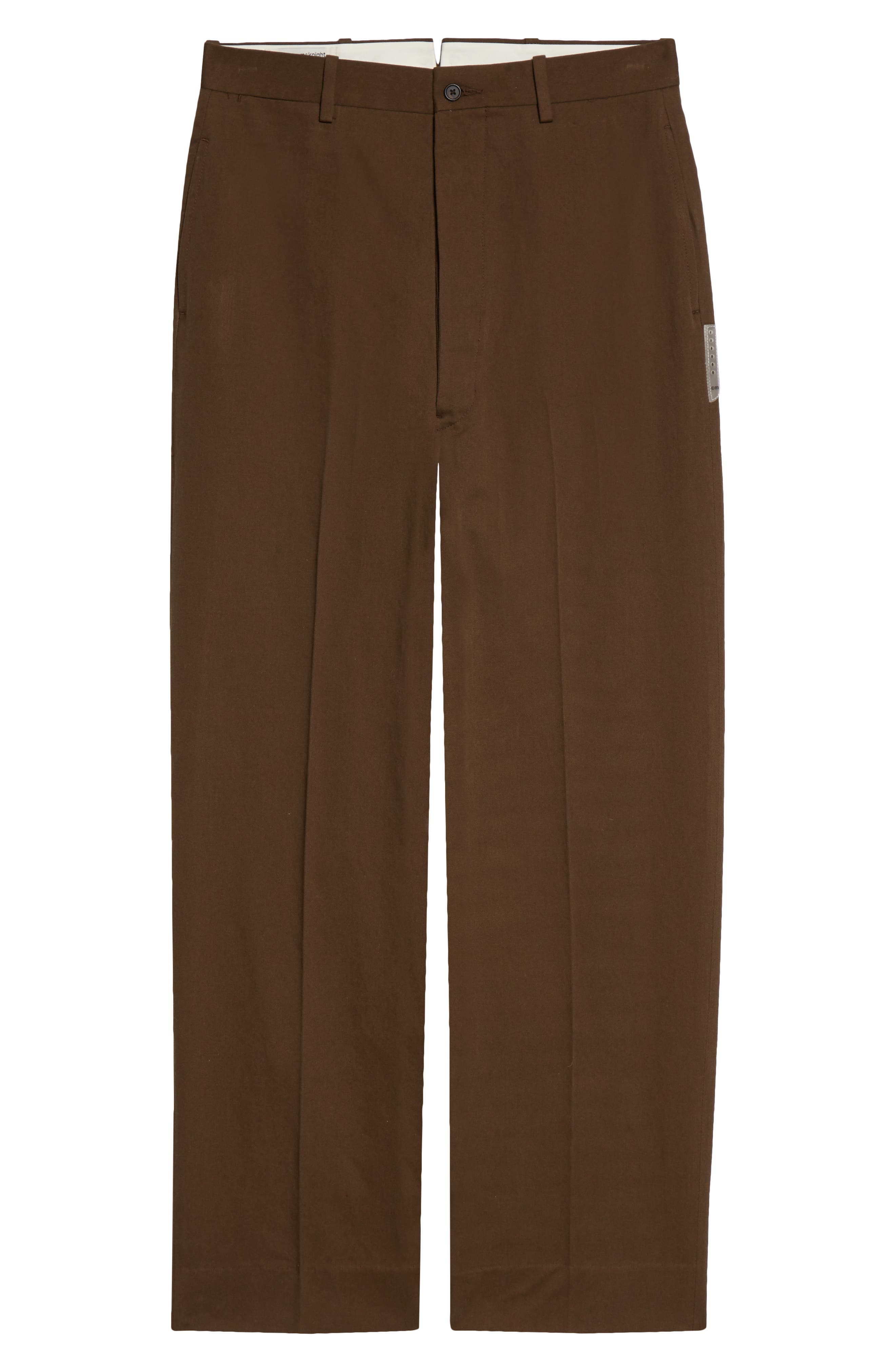 Flat Front Organic Cotton Trousers