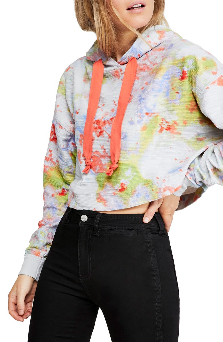 FREE PEOPLE Thinkin' About You Crop Hoodie, Main, color, 440
