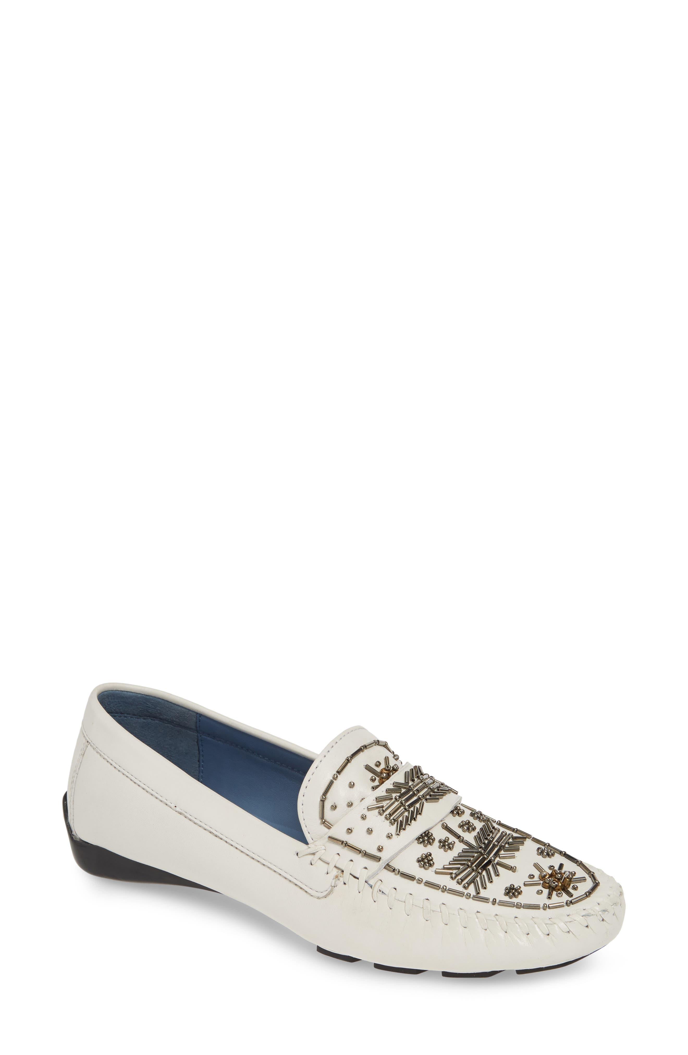 Robert Zur Majorca Embellished Loafer, White