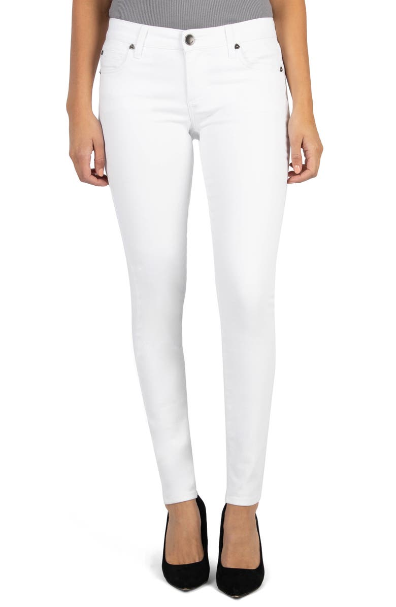 KUT FROM THE KLOTH Mia High Waist Skinny Jeans, Main, color, OPTIC WHITE