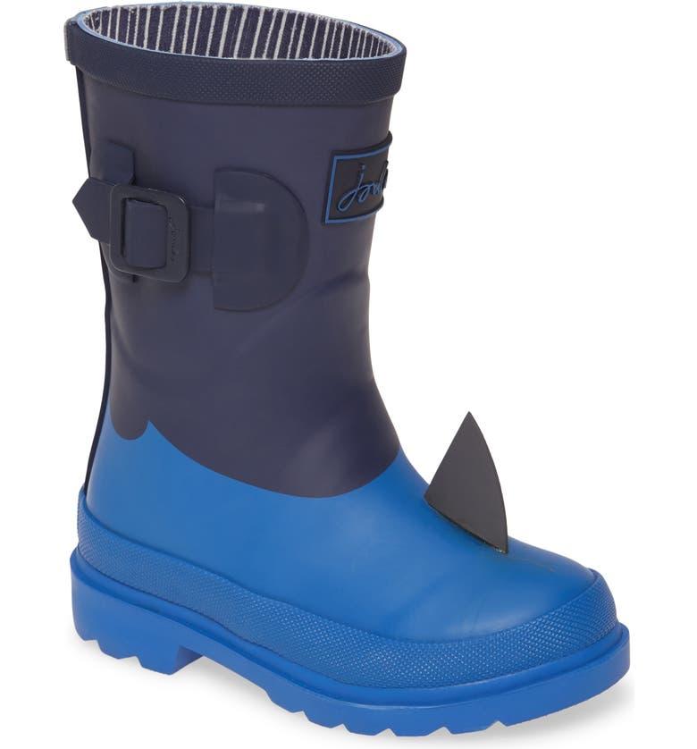 JOULES Welly Waterproof Rain Boot, Main, color, NAVY SHARK