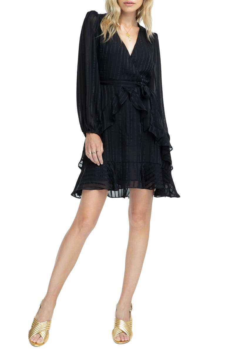 ASTR THE LABEL Ruffle Front Dress, Main, color, 001
