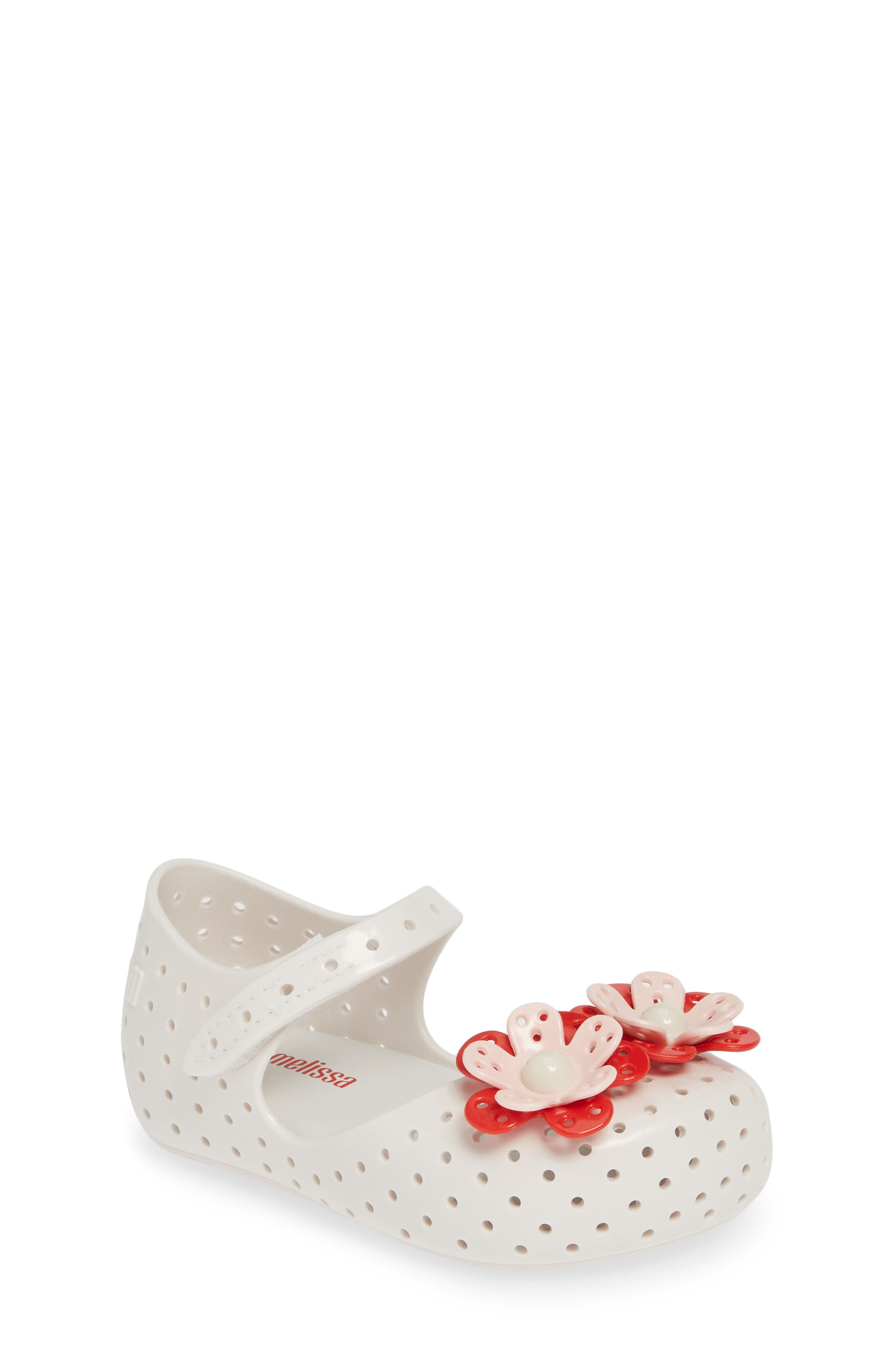 ,                             Furadinha XII Perforated Mary Jane,                             Main thumbnail 1, color,                             BRIGHT WHITE