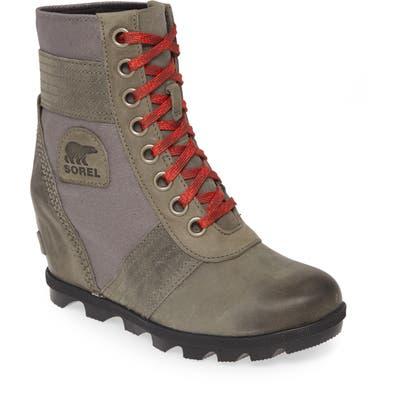 Sorel Lexie Wedge Waterproof Boot, Grey