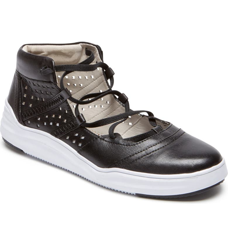 ROCKPORT COBB HILL Cady Gladiator Sneaker, Main, color, BLACK LEATHER