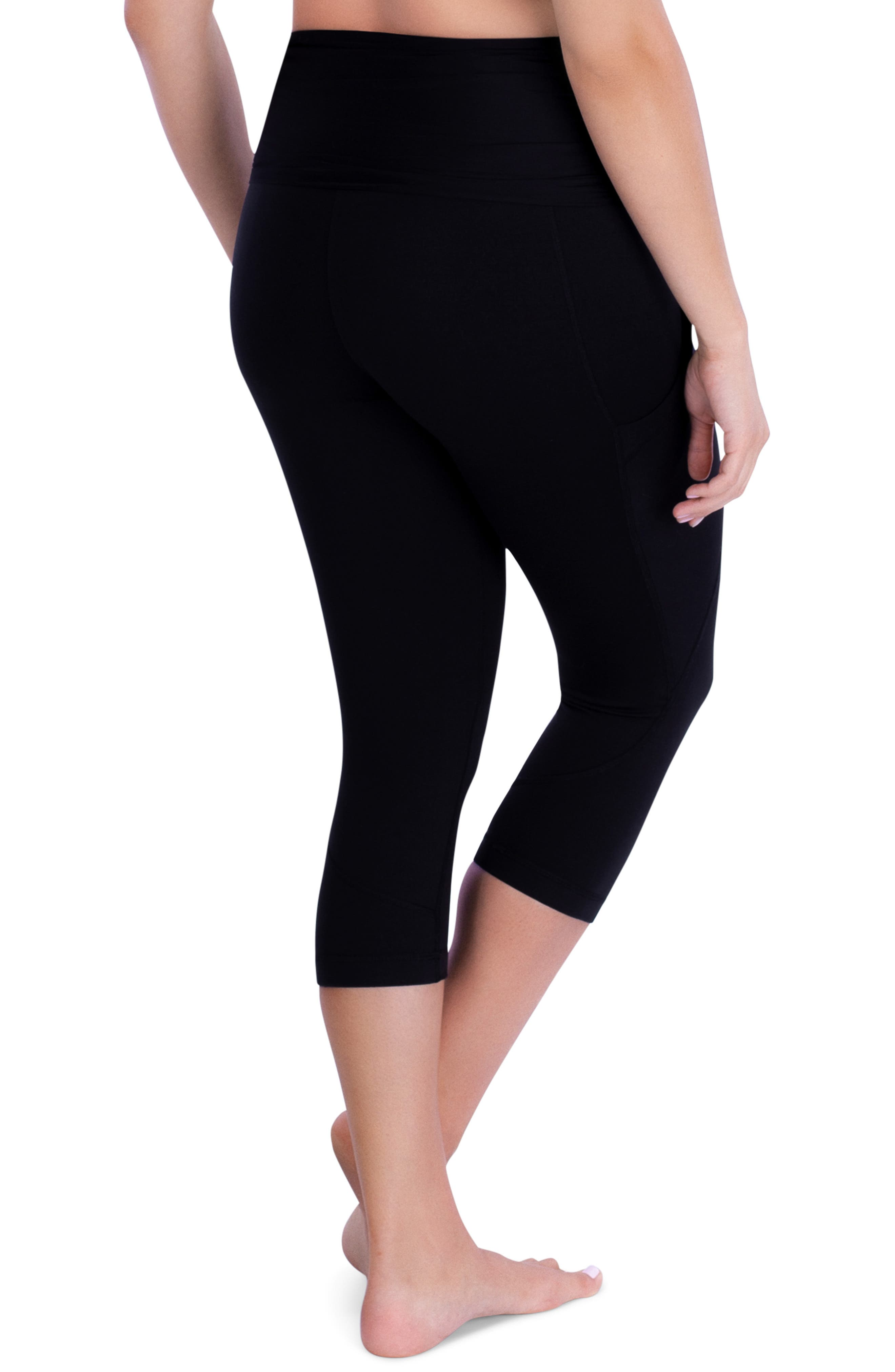 ,                             ActiveSupport<sup>®</sup> Power Capri Maternity Leggings,                             Alternate thumbnail 2, color,                             BLACK