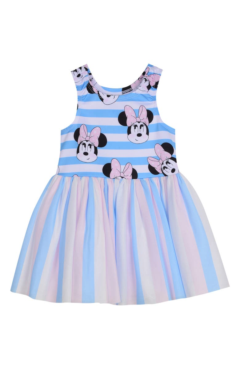 PIPPA & JULIE x Disney Minnie Tutu Dress, Main, color, BLUE/ WHITE