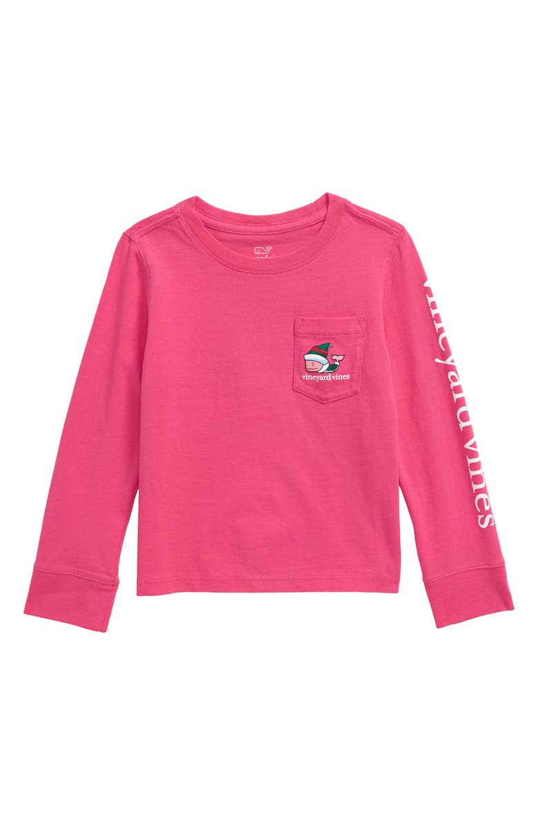 VINEYARD VINES Elf Whale Long Sleeve Pocket Tee, Main, color, 600