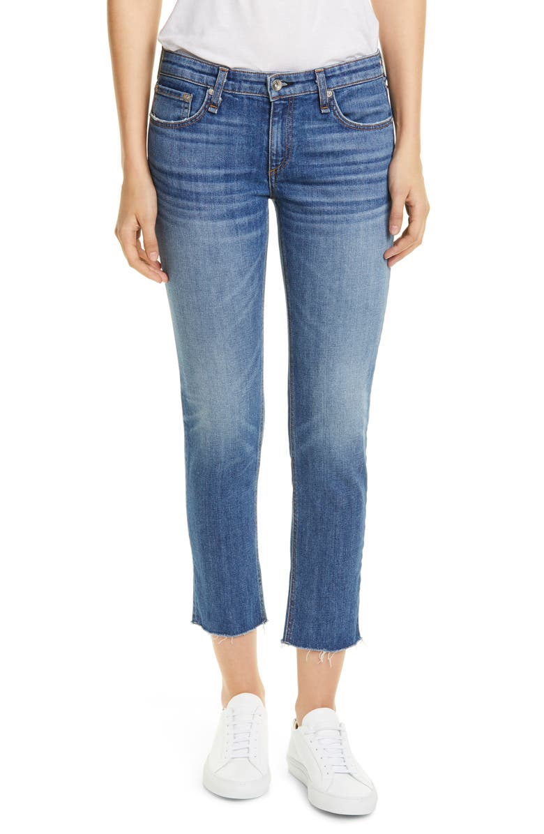 RAG & BONE The Dre Slim Fit Ankle Boyfriend Jeans, Main, color, BALBOA