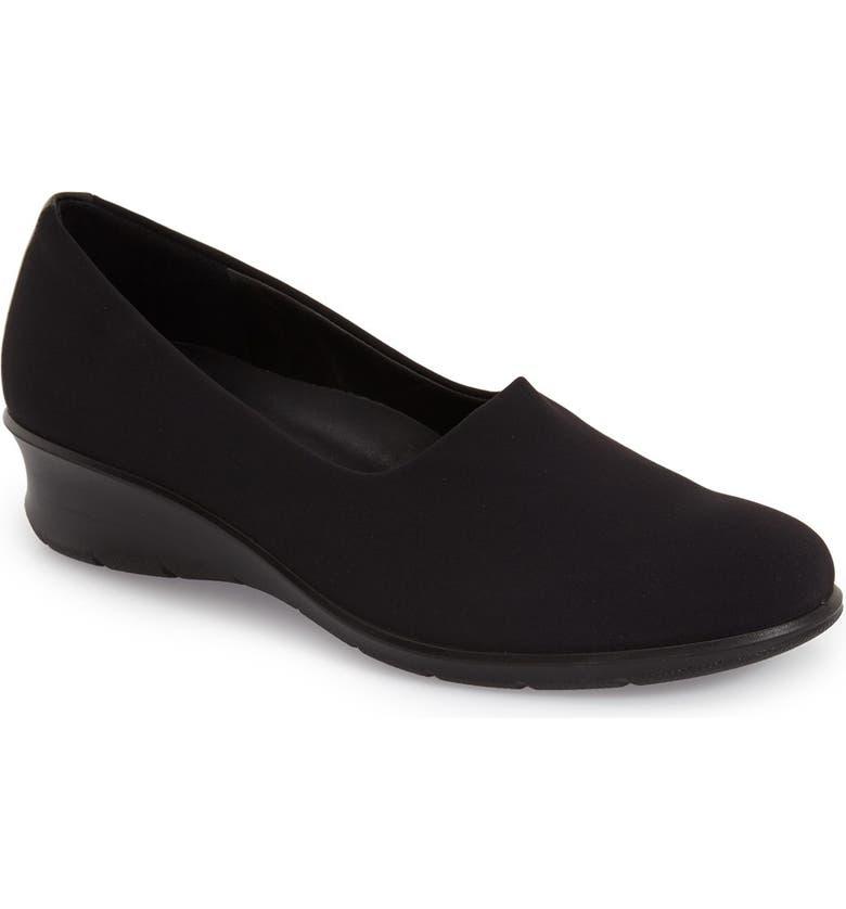 ECCO Felicia Stretch Wedge Loafer Women