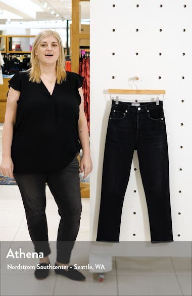 Riley High Waist Crop Straight Leg Jeans, sales video thumbnail