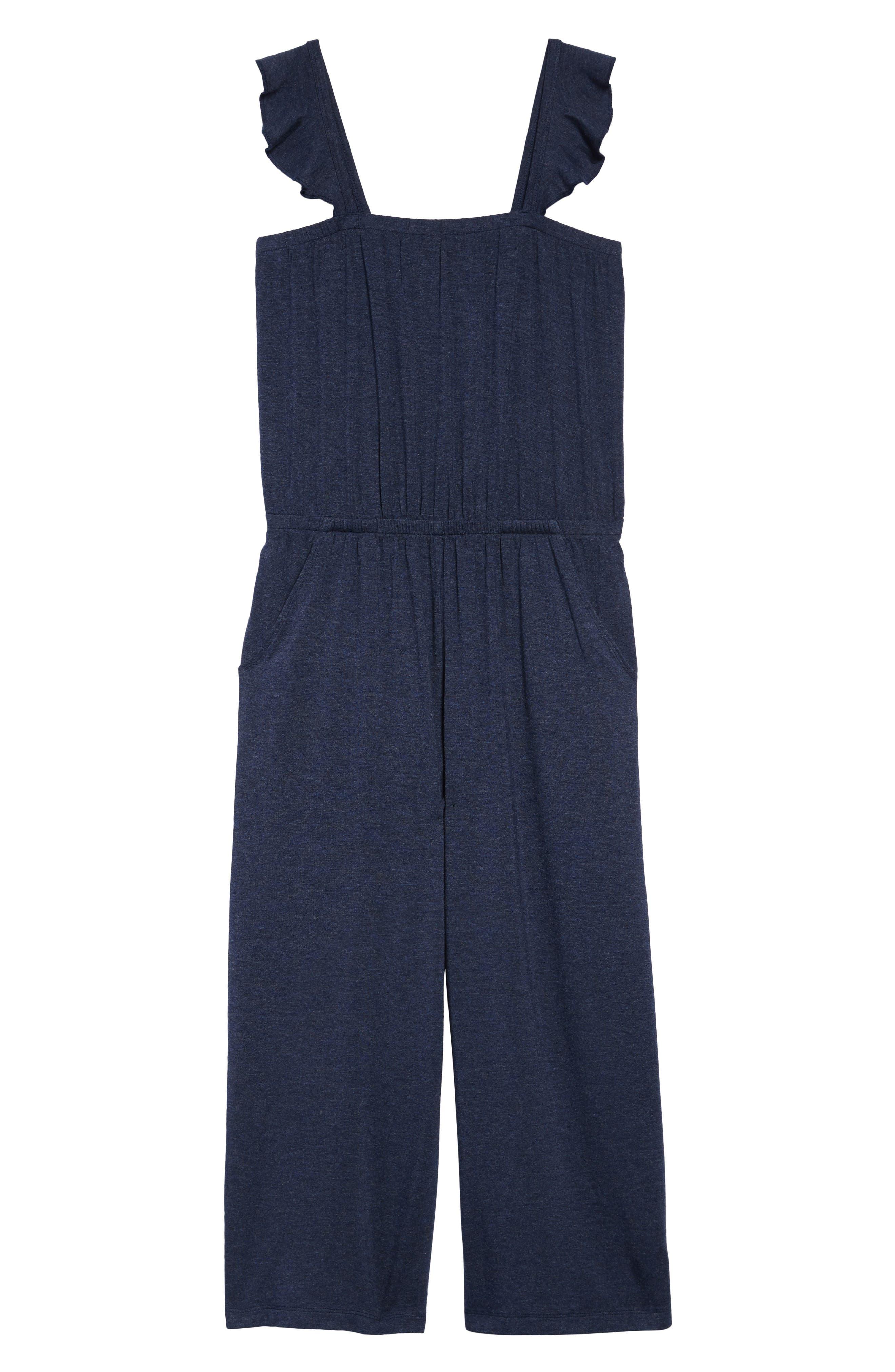 Girls Tucker  Tate Heathered Knit Jumpsuit Size XL (1416)  Blue