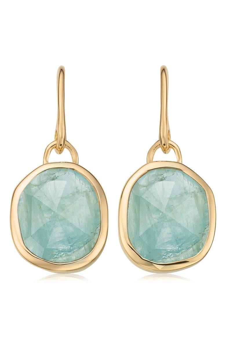 MONICA VINADER Siren Bezel Set Onyx Earrings, Main, color, 715