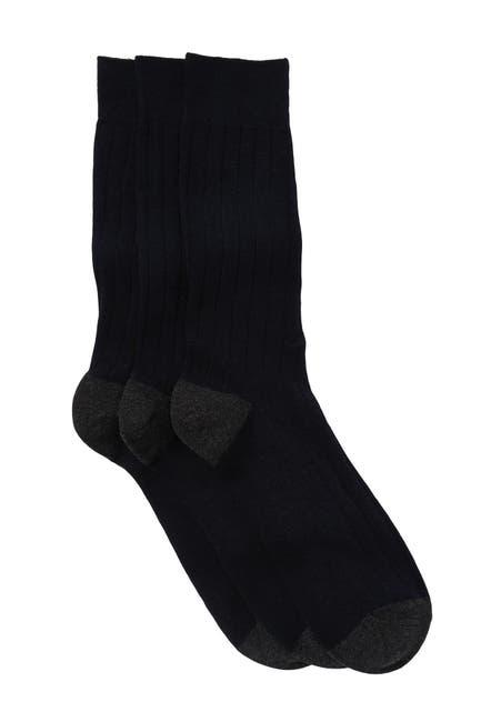 Image of Nordstrom Rack Basic Rib Crew Socks - Pack of 3