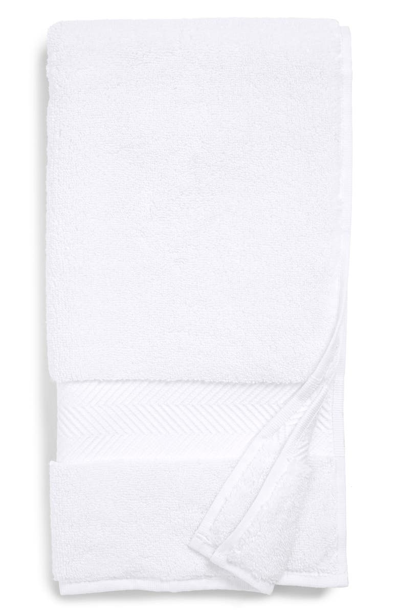 NORDSTROM AT HOME Hydrocotton Bath Towel, Main, color, WHITE