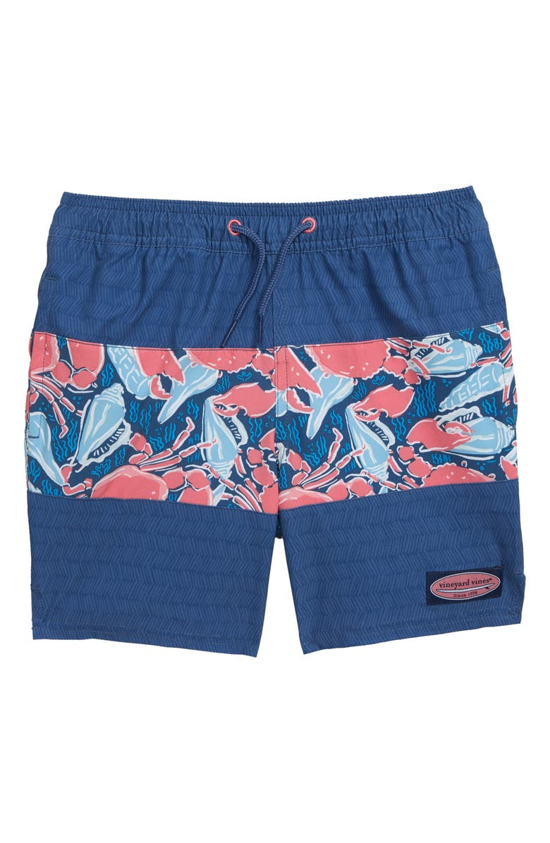 VINEYARD VINES Pieced Chappy Swim Trunks, Main, color, MOONSHINE