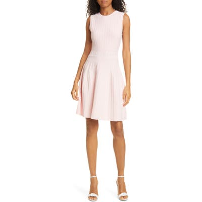 Ted Baker London Sleeveless Knit Fit & Flare Dress, Pink