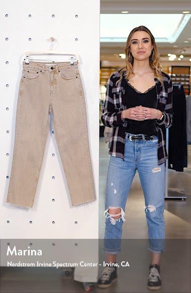 Raw Hem High Waist Straight Leg Jeans, sales video thumbnail
