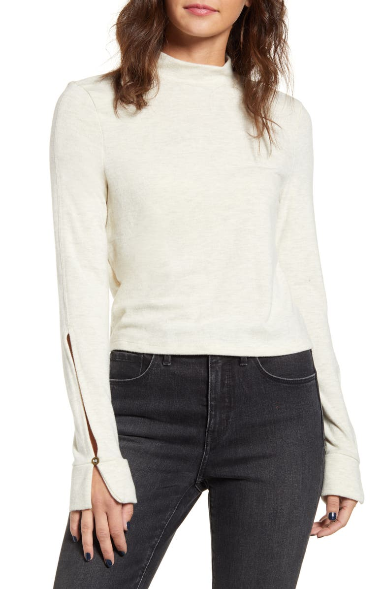 PST BY PROJECT SOCIAL T Long Sleeve Mock Neck Tee, Main, color, 020
