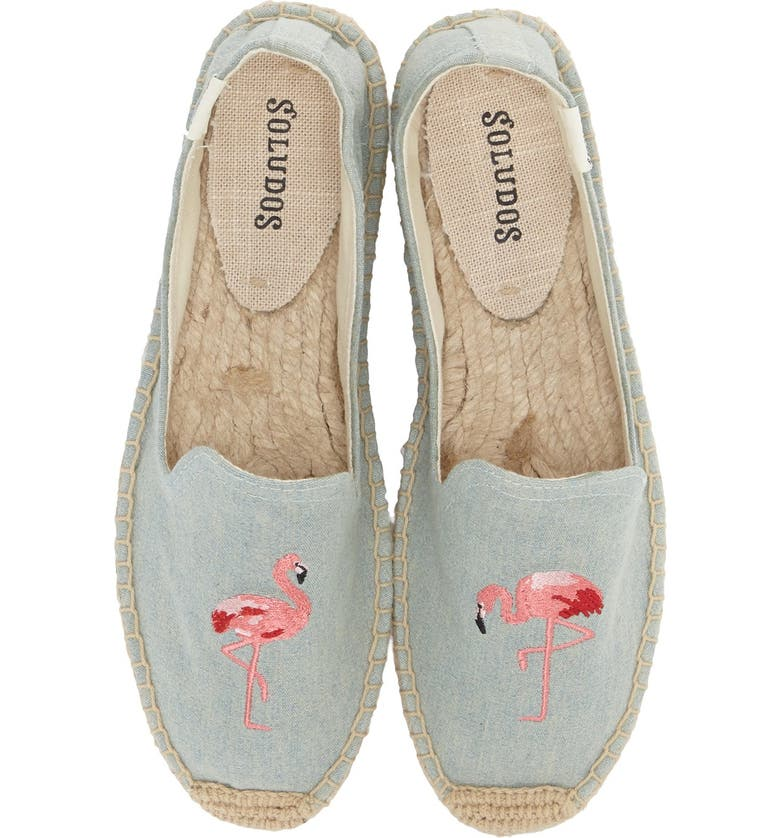SOLUDOS Espadrille Slip-On, Main, color, FLAMINGO CHAMBRAY