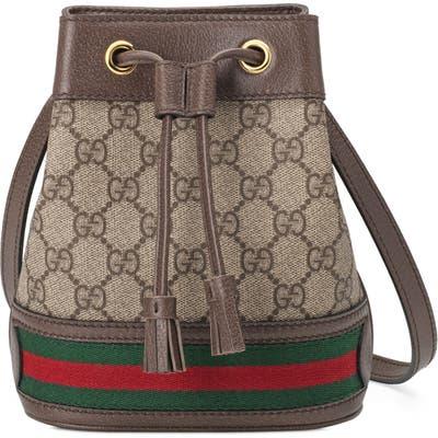 Gucci Mini Ophidia Gg Supreme Bucket Bag - Beige