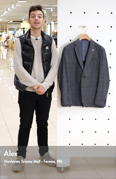 Kyle Trim Fit Plaid Wool Sport Coat, sales video thumbnail