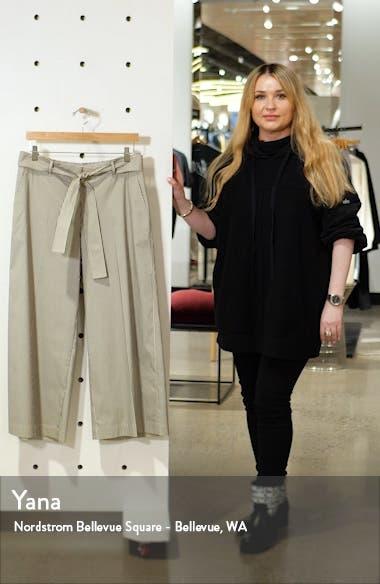 Rockefeller Belted Wide Leg Crop Pants, sales video thumbnail