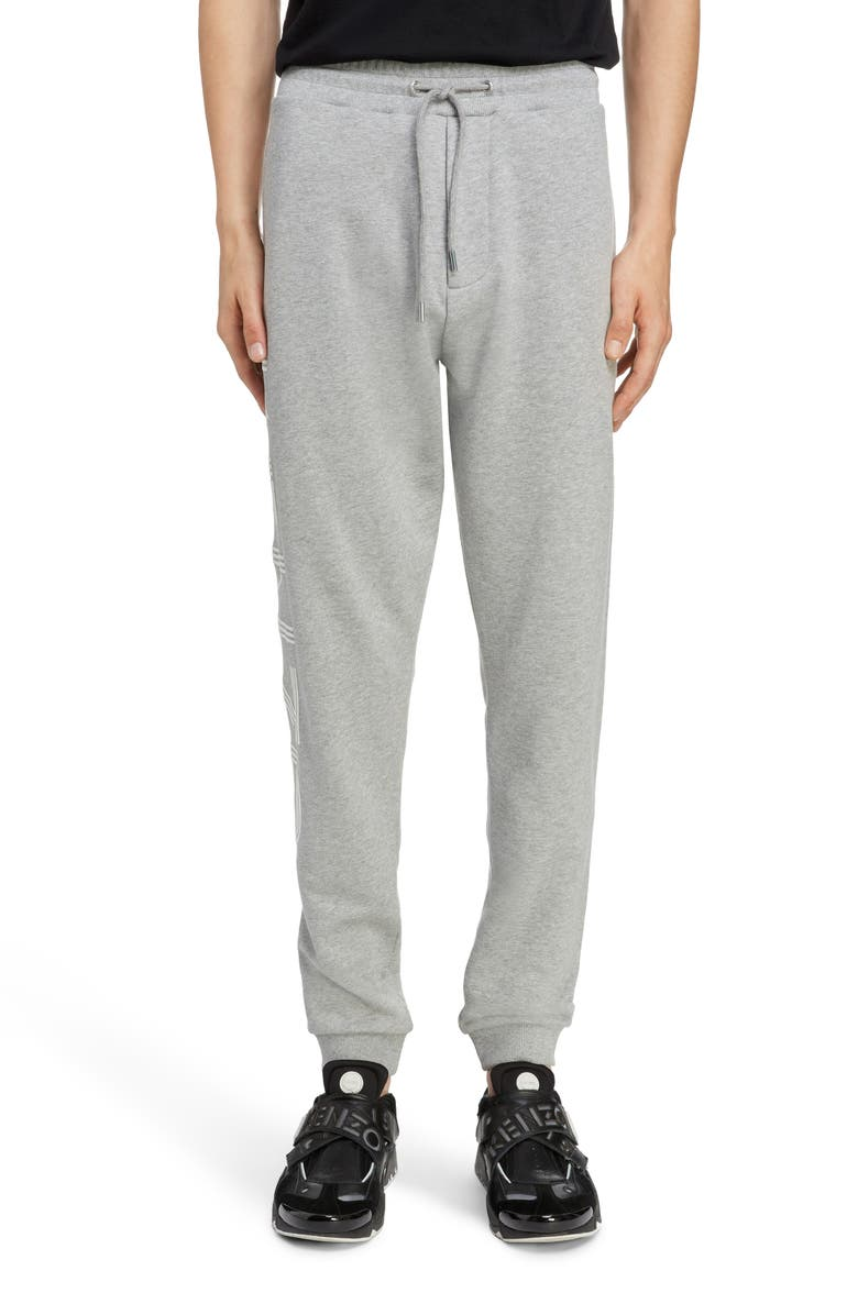 KENZO Logo Jogger Sweatpants, Main, color, PEARL GREY