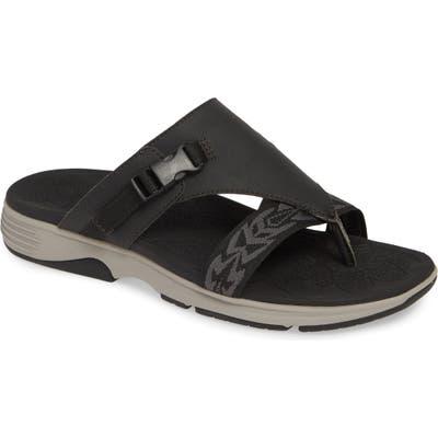Dansko Alecia Adjustable Flip Flop- Black