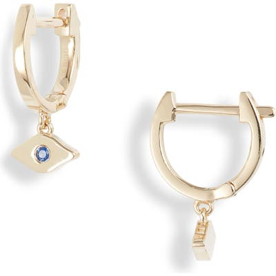 Ef Collection Evil Eye Huggie Hoop Earrings