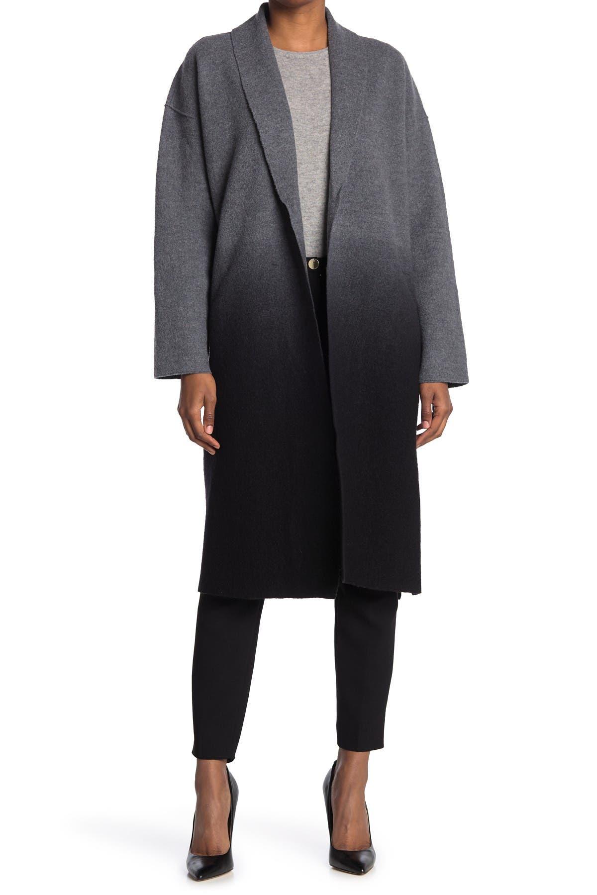 Image of Eileen Fisher Ombre Open Front Coat