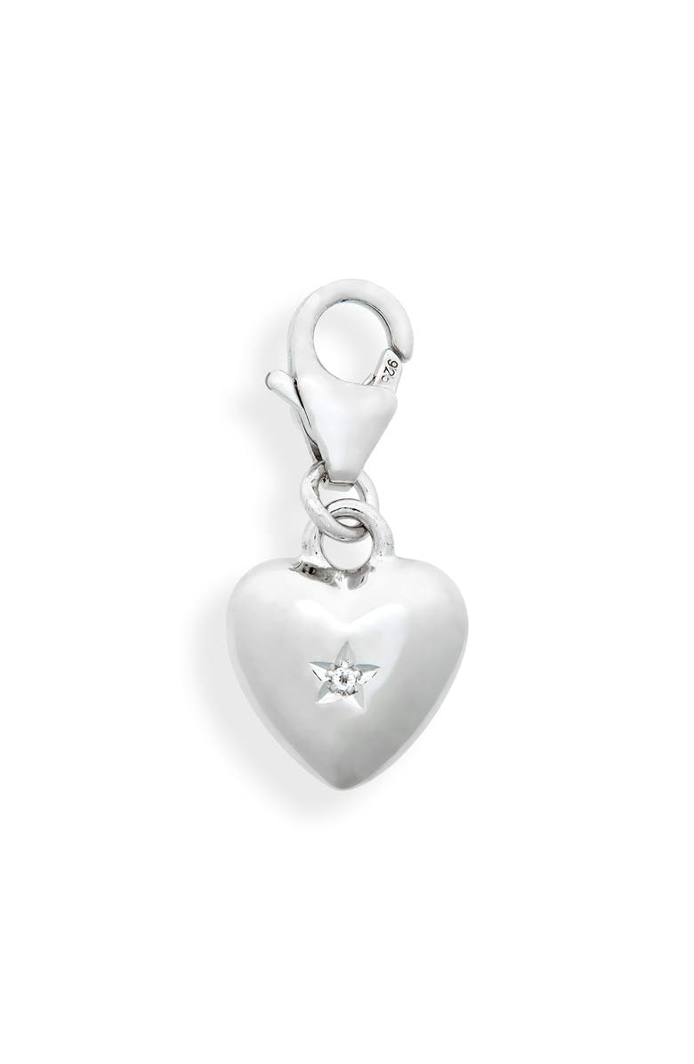 TOM WOOD Rock Crystal Heart Charm, Main, color, 925 STERLING SILVER