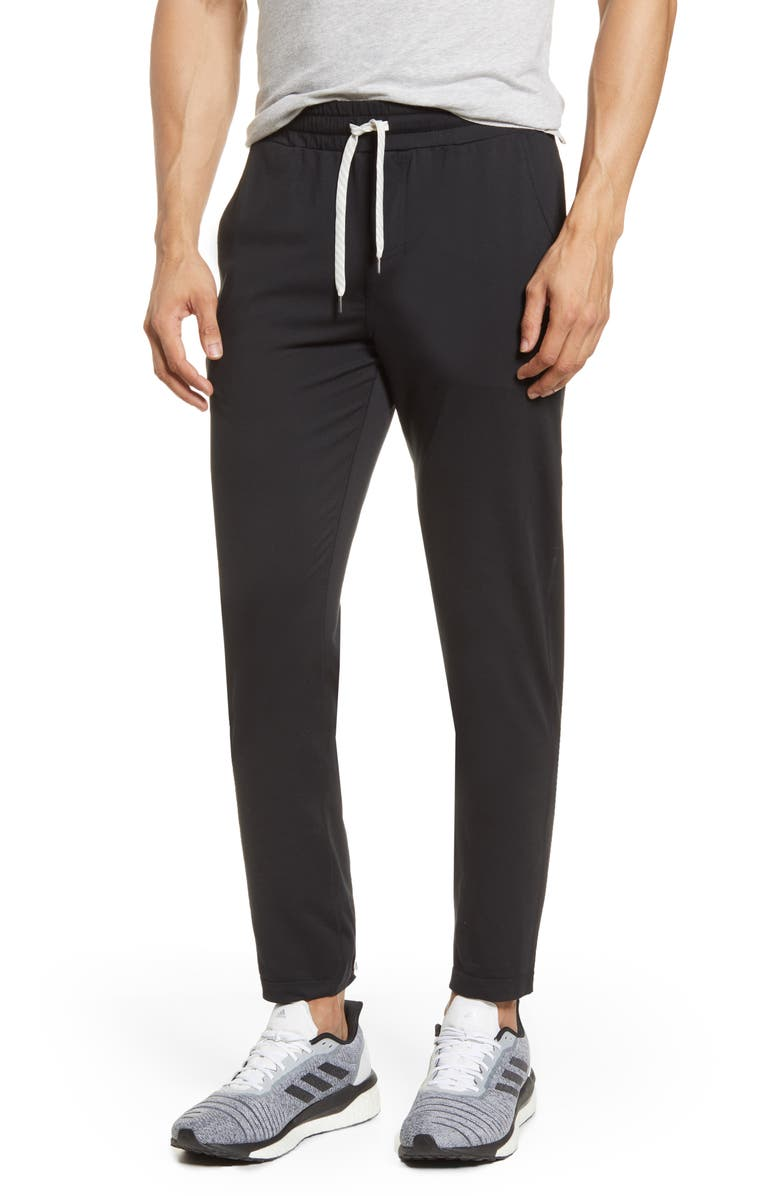VUORI Ponto Slim Fit Jogger Pants, Main, color, BLACK