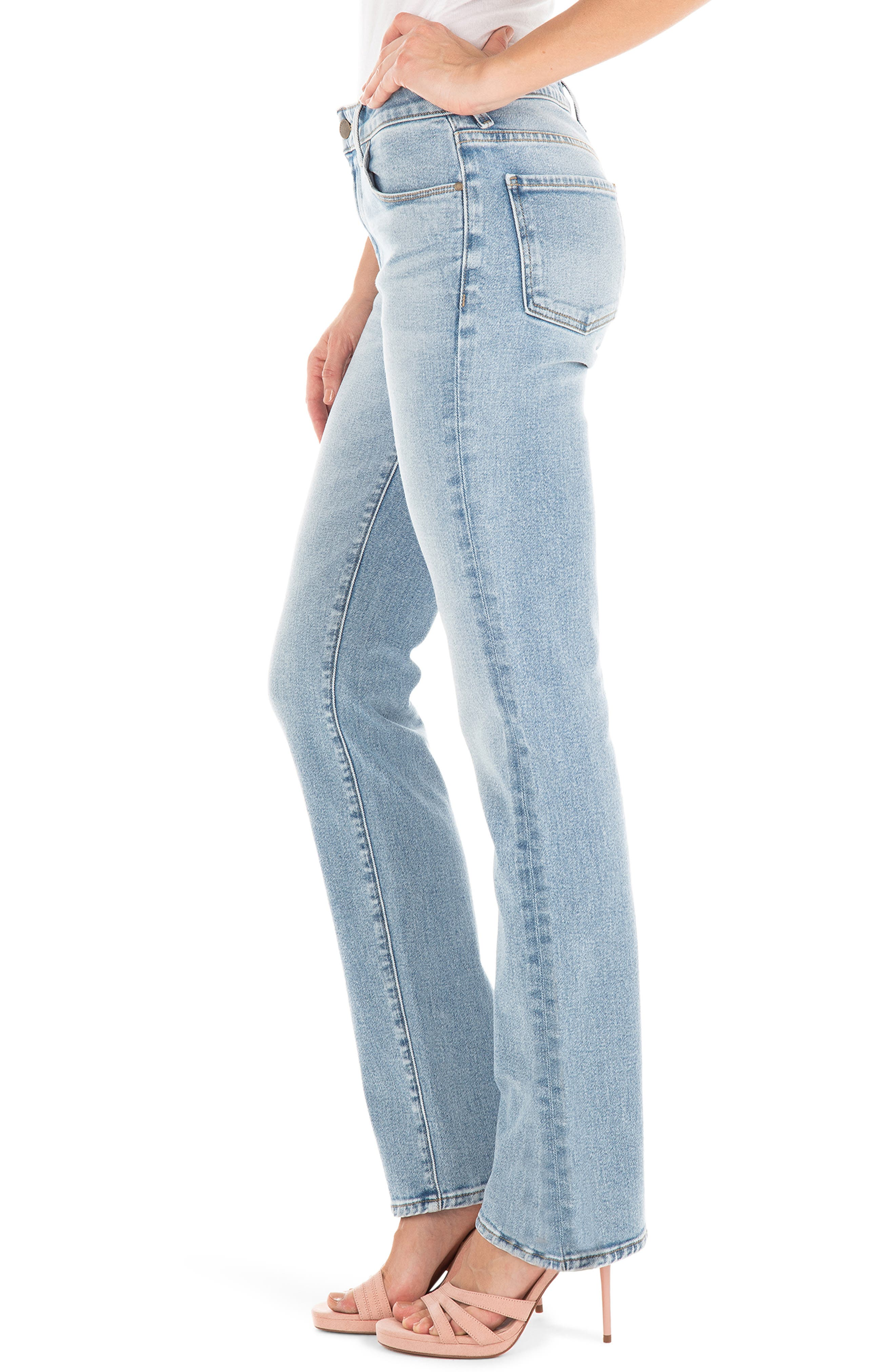 ,                             Cher High Waist Ankle Slim Jeans,                             Alternate thumbnail 3, color,                             BUTTERFLY BLUE