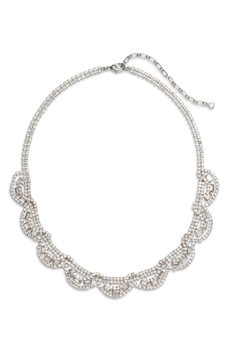 CRISTABELLE Crystal Collar Necklace, Main, color, CRYSTAL/ SILVER