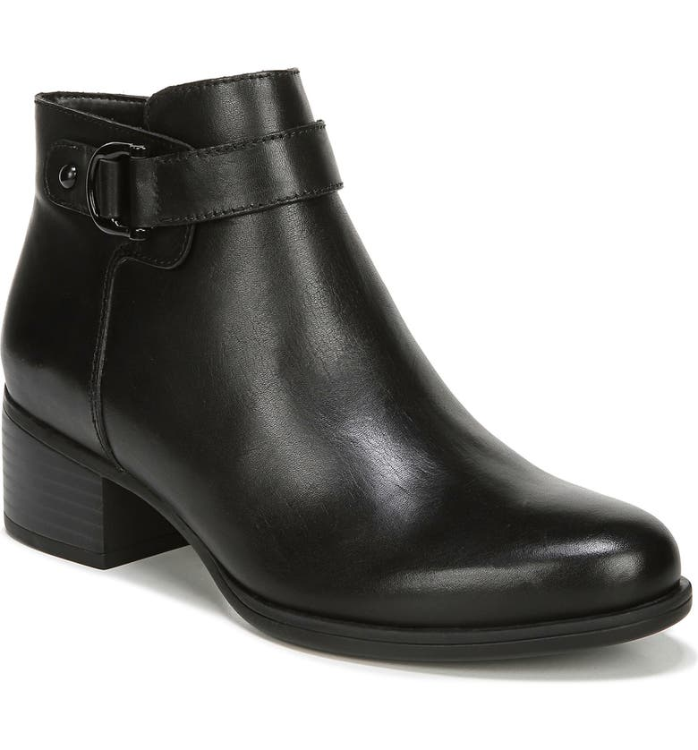 NATURALIZER Drewe Bootie, Main, color, BLACK LEATHER