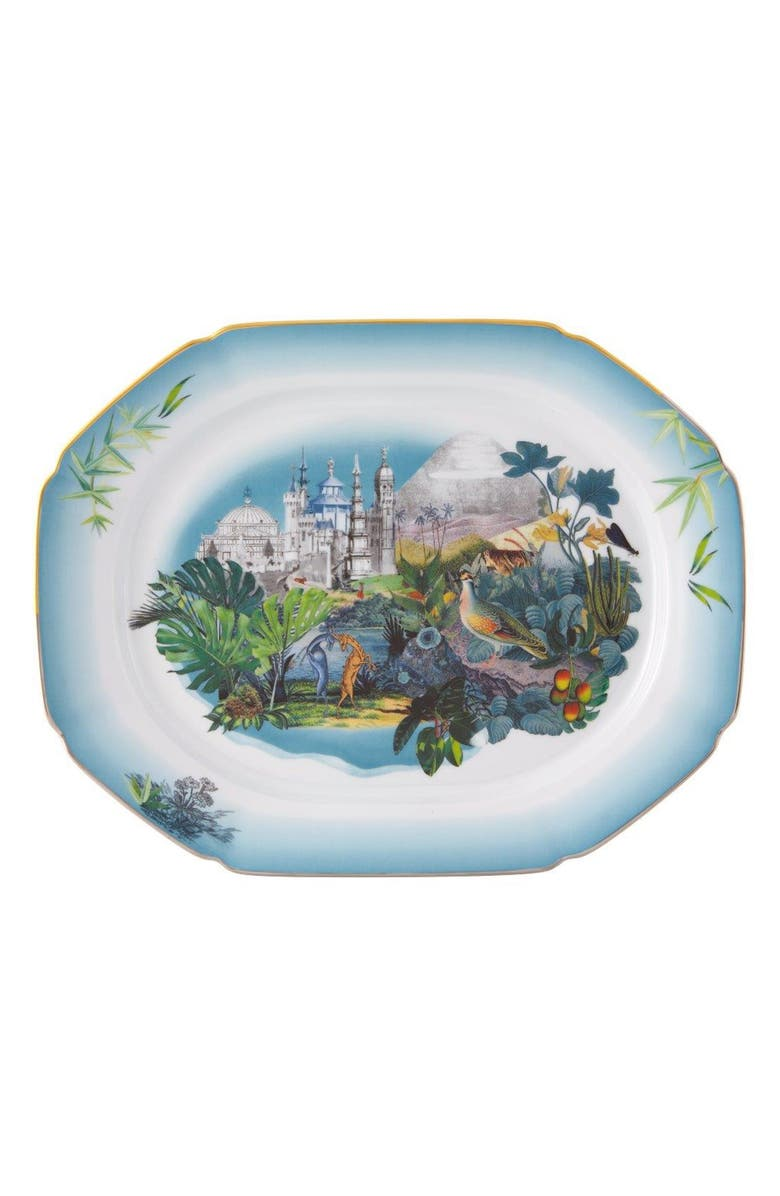 CHRISTIAN LACROIX Reveries Small Platter, Main, color, WHITE