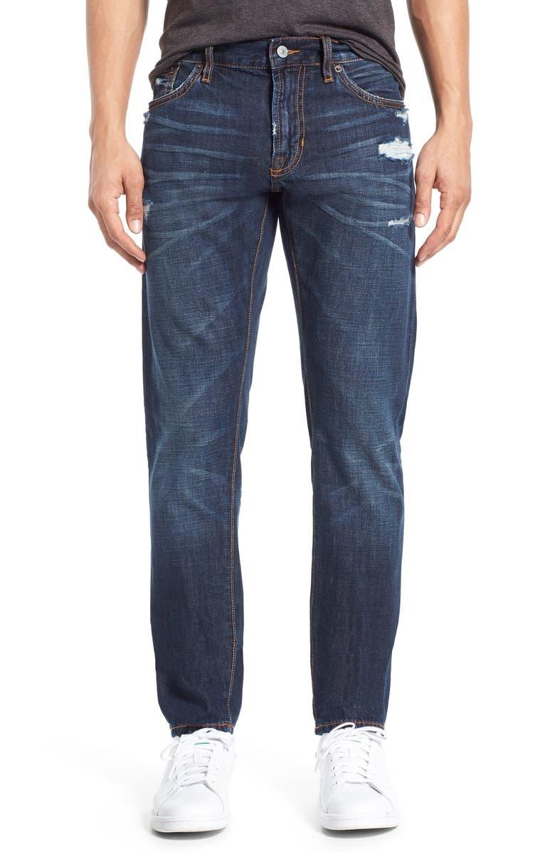 JEAN SHOP 'Jim' Slim Fit Selvedge Jeans, Main, color, 411