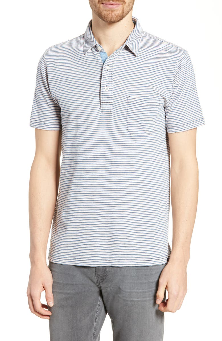 FAHERTY Stripe Polo, Main, color, PINK IND WHITE STRIPE