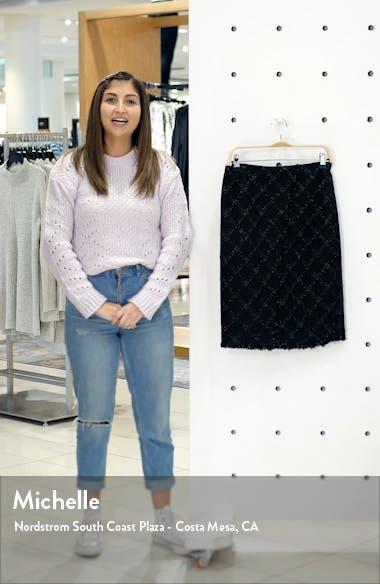 Textured Tweed Skirt, sales video thumbnail
