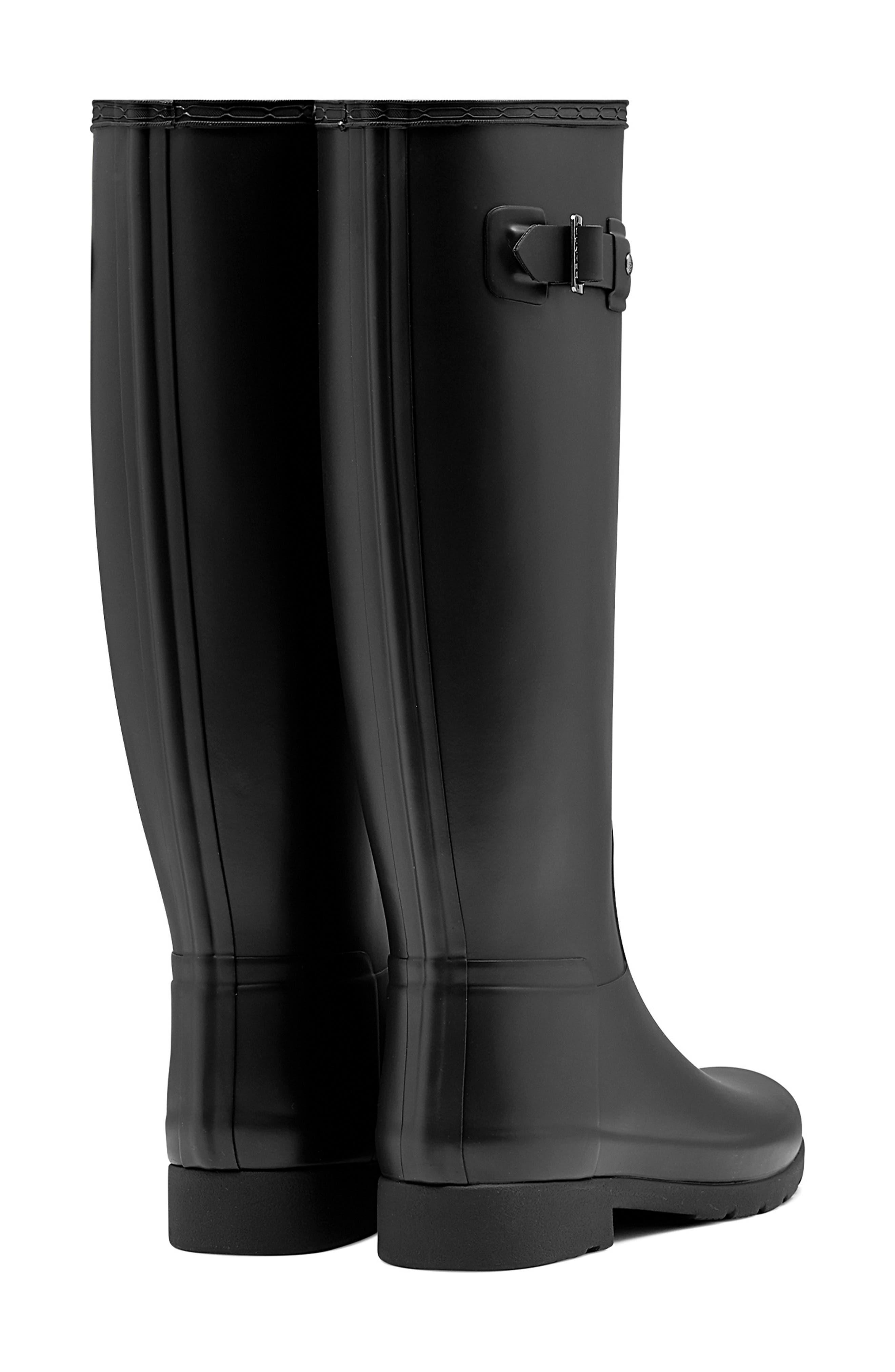 ,                             Original Refined Waterproof Rain Boot,                             Alternate thumbnail 2, color,                             BLACK