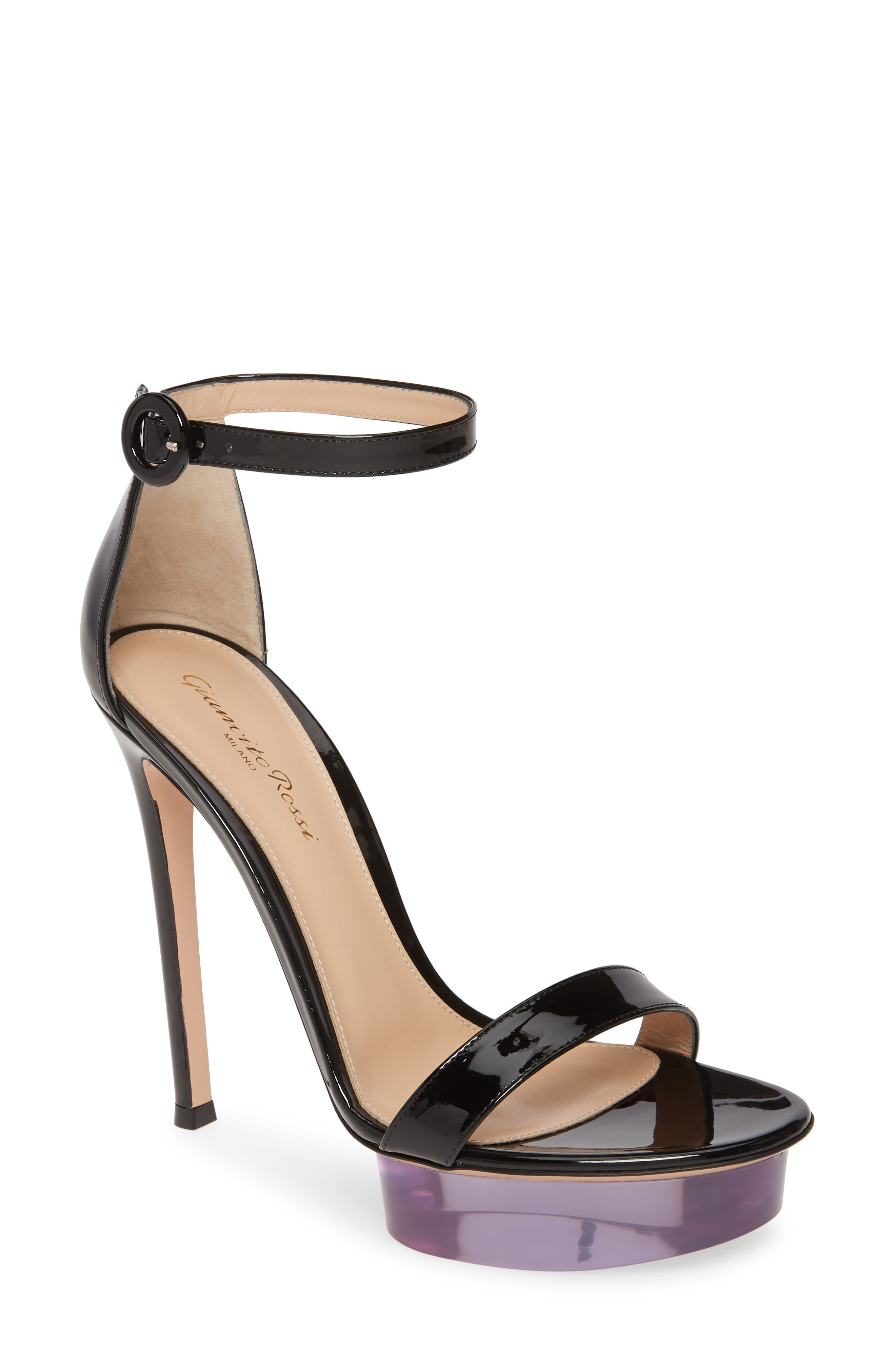 Gianvito Rossi Slippers Clear Platform Ankle Strap Sandal