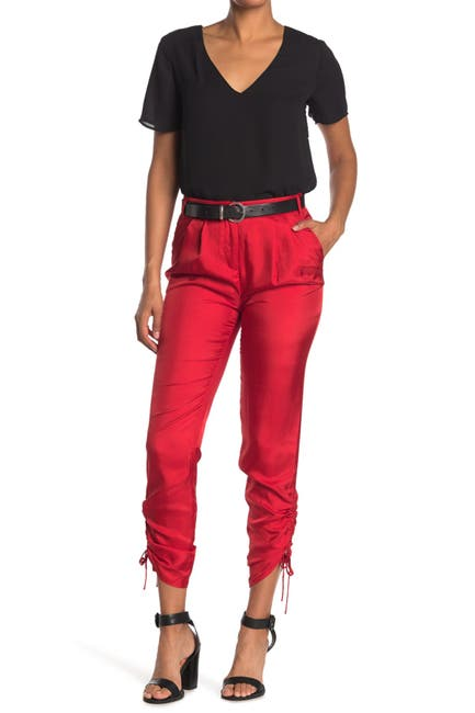 Image of Tibi Mendini Twill Shirred Pants