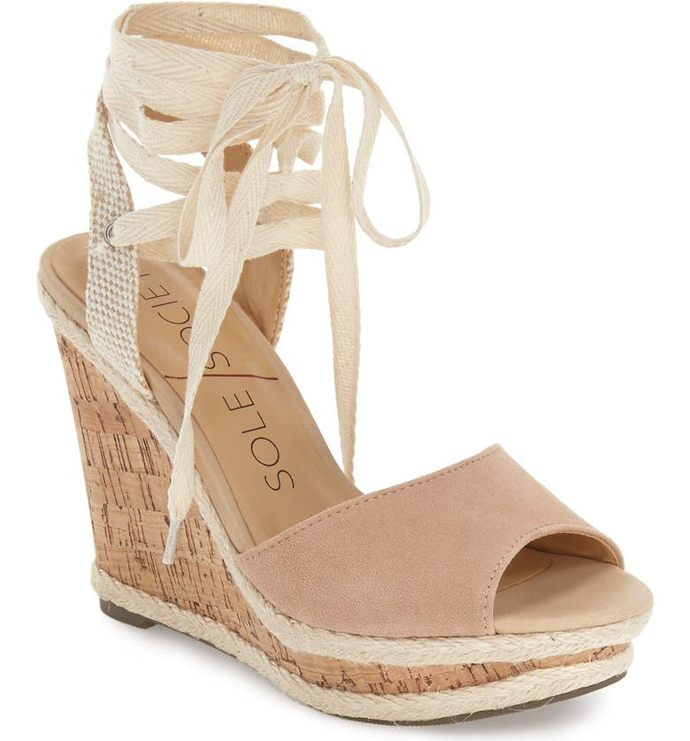 SOLE SOCIETY 'Sena' Espadrille Wedge, Main, color, 230