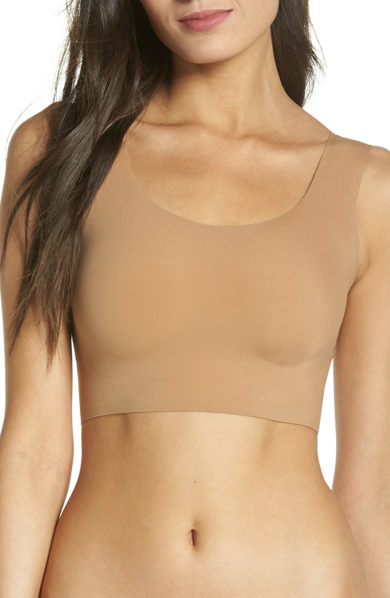 TRUE & CO. True Body Scoop Neck Wireless Bra, Main, color, BRONZED