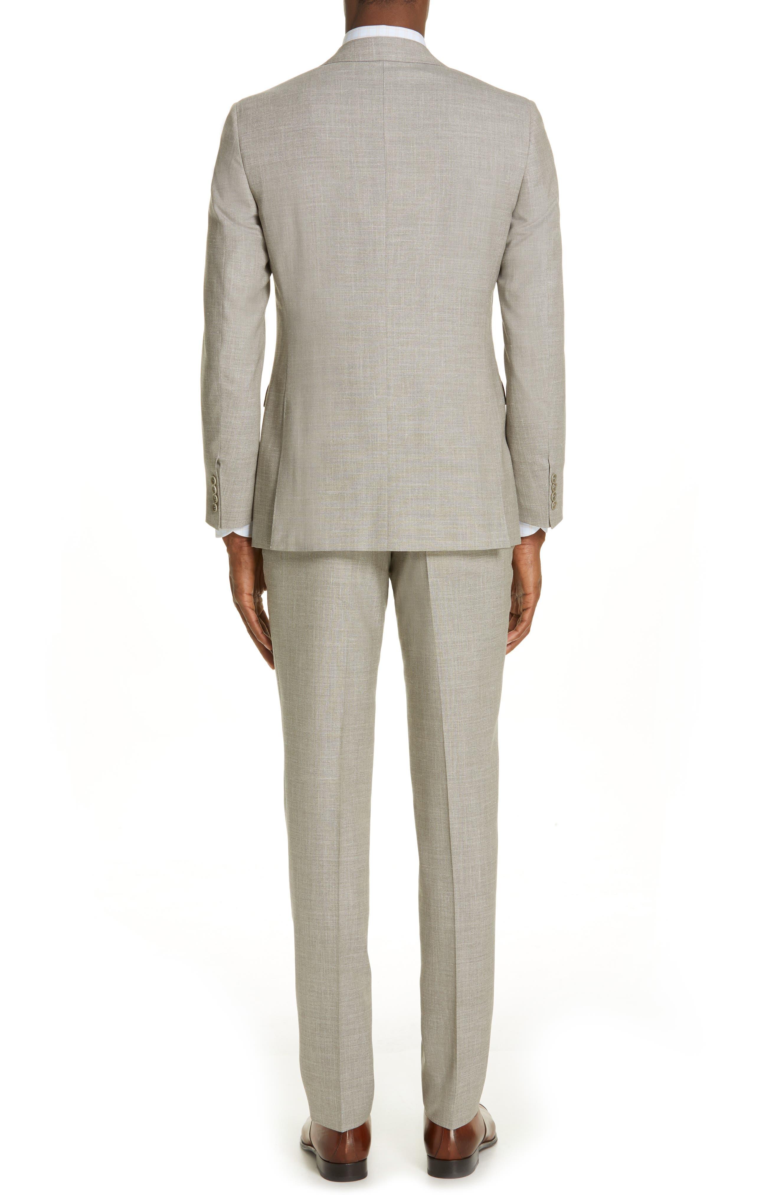 ,                             Milano Trim Fit Solid Wool Blend Suit,                             Alternate thumbnail 2, color,                             BEIGE