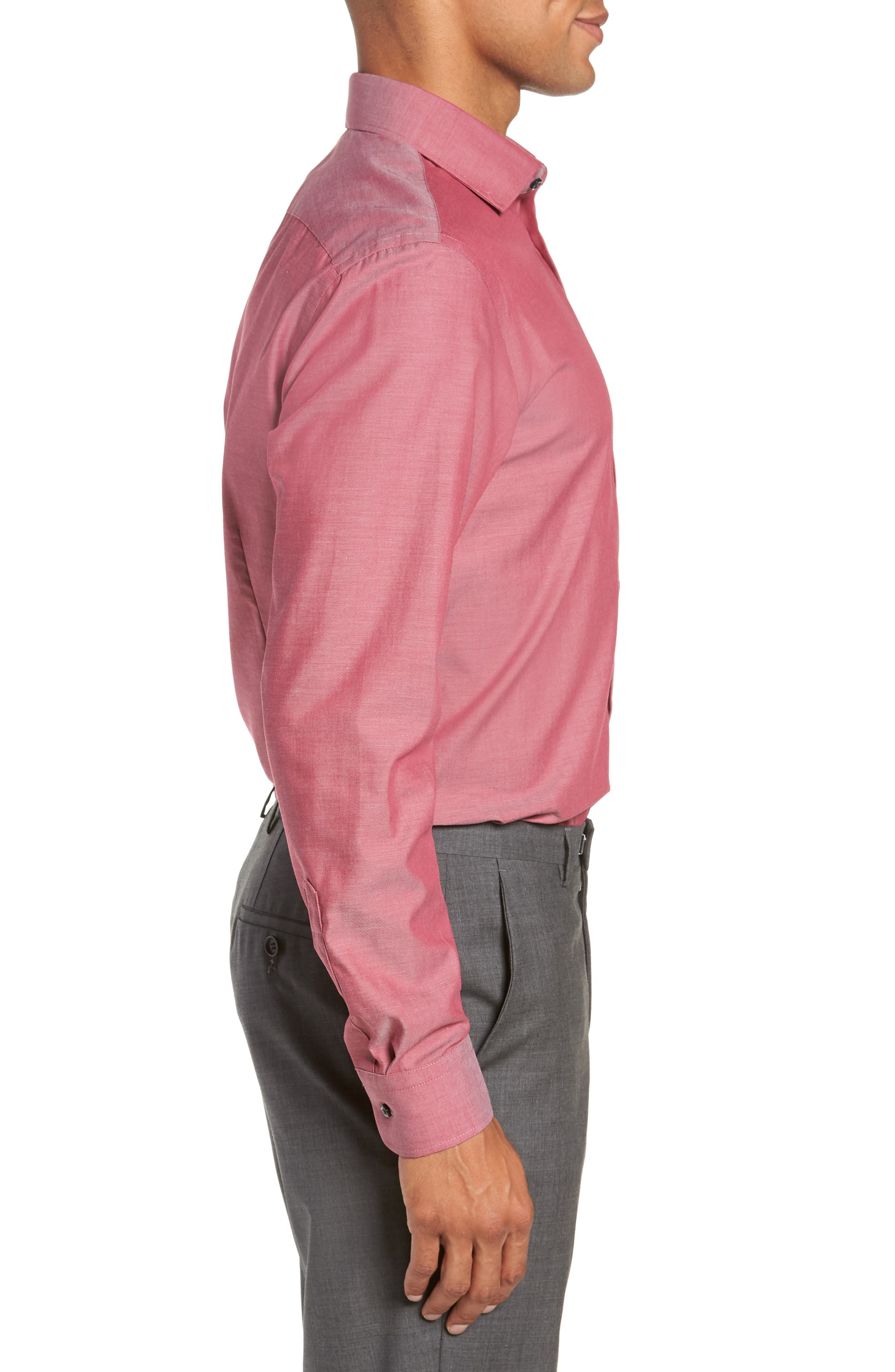 ,                             Extra Trim Fit Non-Iron Solid Dress Shirt,                             Alternate thumbnail 40, color,                             601