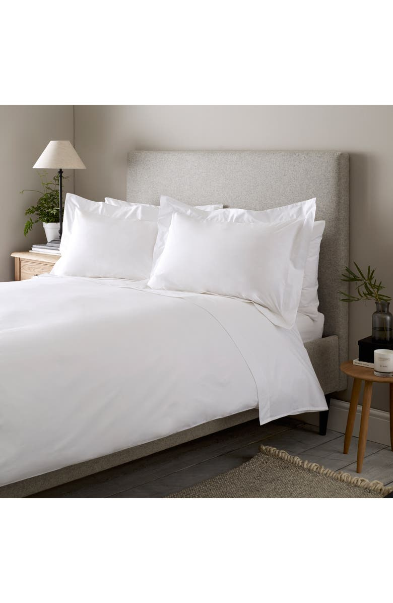 THE WHITE COMPANY 300 Thread Count Egyptian Cotton Flat Sheet, Main, color, WHITE