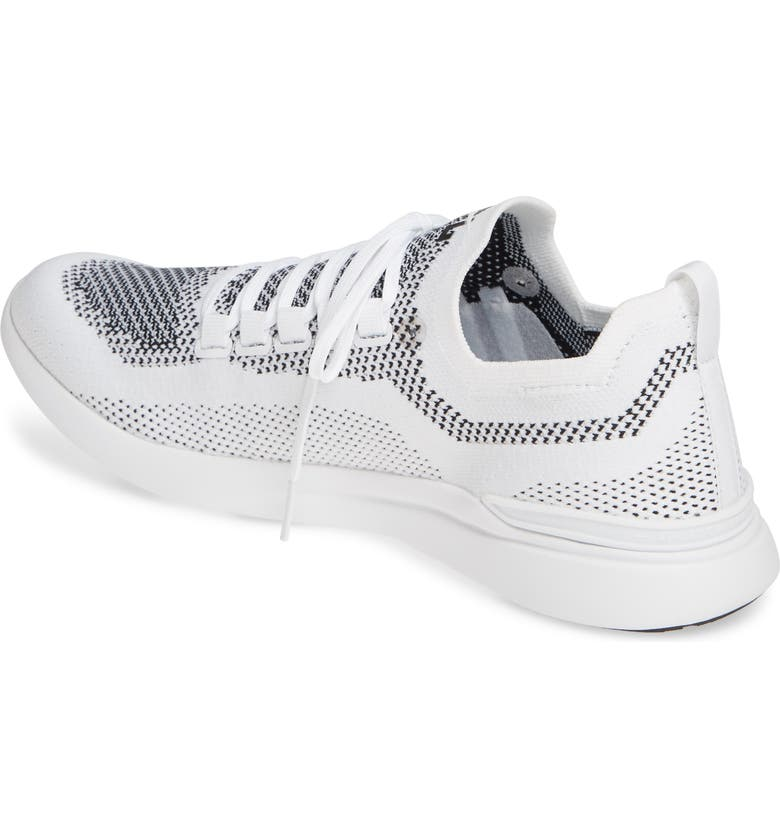 APL TechLoom Breeze Knit Running Shoe, Main, color, WHITE/ BLACK