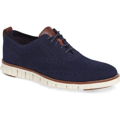 Cole Haan Zerogrand Stitch-Lite Wingtip Oxford- Blue